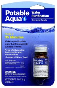 Potable Aqua Water Purification Treatment Tablets